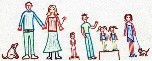 család rajz